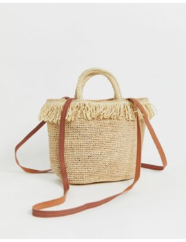 &Amp; Other Stories Mini Tote Bag In Natural Straw With Gold Details by & Other Stories