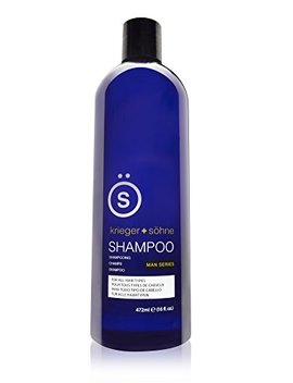 Shampoo For Mens Hair   Contains Invigorating Tea Tree Oil   Krieger + Söhne Man Series   For All Hair Types   Exploit Your Style   16 Ounce Bottle (16oz (Single... by Krieger + Söhne