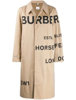 Horseferry Logo Trench Coat by Burberry