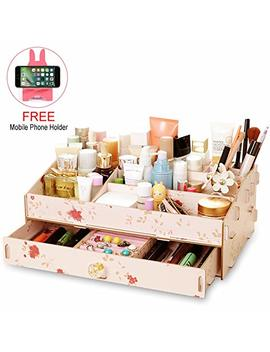 vanity-organizer-for-makeup,-waterproof-diy-mdf-cosmetic-storage-countertop-and-jewelry-display-drawers-great-for-bathroom-dresser by sawaku