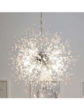 Gdns Chandeliers Firework Led Light Stainless Steel Crystal Pendant Lighting Led Globe Living Room by Gdns