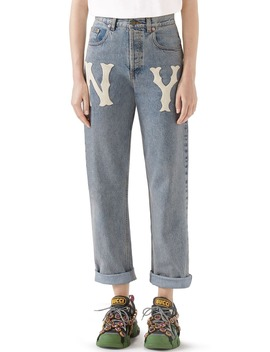 Ny Patch Boyfriend Jeans by Gucci