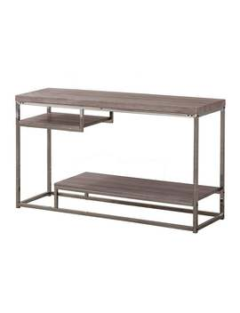 Coaster Company Weathered Grey Wood Nickel Sofa Table by Coaster