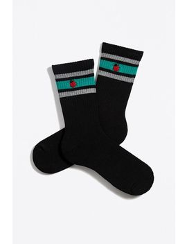 Embroidered Ladybug Sport Crew Sock by Urban Outfitters