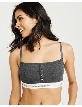 Square Neck Bralette by Abercrombie &Amp; Fitch