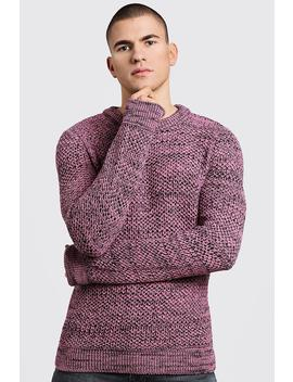 Twisted Yarn Knitted Jumper by Boohoo