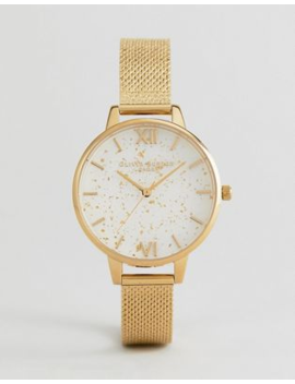Olivia Burton Ob16 Gd15 Celestial Mesh Boucle Demi Watch In Gold by Olivia Burton