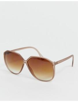 Asos Design Angular 70's Oversized Sunglasses by Asos Design