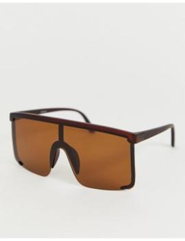 Asos Design Oversized Visor Sunglasses by Asos Design