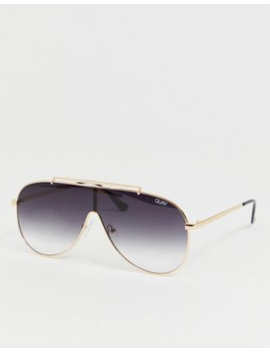 Quay Australia X J Lo Dinero Aviator Sunglasses In Black by Quay Eyeware