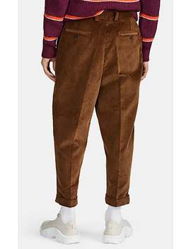 Cotton Corduroy Carrot Leg Trousers by Ami Alexandre Mattiussi