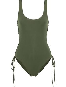 Cuba Lace Up Swimsuit by Melissa Odabash
