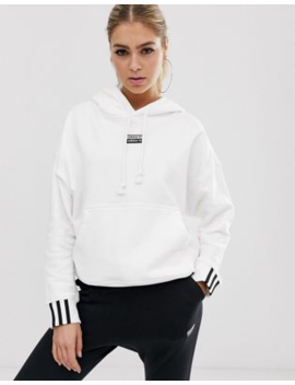 Adidas Originals Ryv Hoodie In White by Adidas