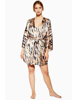 Tiger Print Robe by Topshop