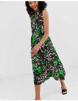 &Amp; Other Stories Sleeveless Midi Smock Dress In Floral Print by & Other Stories
