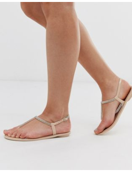 Lipsy Diamante Jelly Sandal In Pink by Lipsy