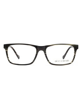 Occi Chiari Men Fashion Rectangle Blue Light Blocking Eyewear Frame With Non Prescription Clear Lens by Occi Chiari
