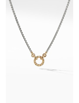 Amulet Vehicle Box Chain Necklace With 18 K Yellow Gold by David Yurman