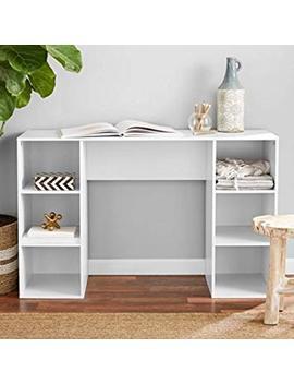 Mainstay` Student Desk, Black (6 Cube Storage Desk, White) by Mainstay`