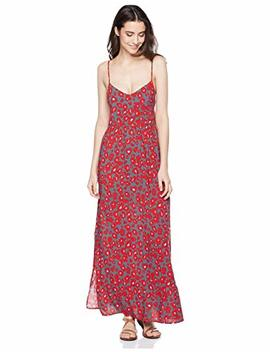 Beautiful Nomad Long Beach Dress Strappy Backless With Floral Leopard Print For Women by Beautiful Nomad