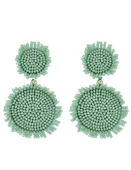 Mint Seed Bead Earrings by Panacea