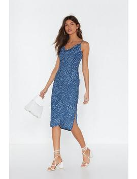 Spot In The Name Of Love Cowl Midi Dress by Nasty Gal