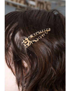 Cheetah And Tortoise Shell Hair Clips by Brandy Melville
