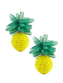 Beaded Pineapple Statement Earrings by Anna &Amp; Ava