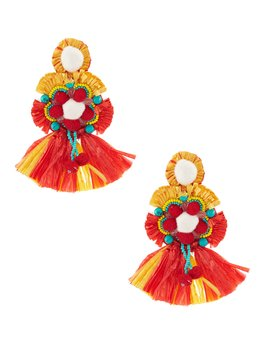 Raffia Statement Earrings by Anna &Amp; Ava