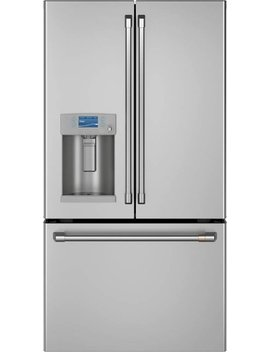 Café 27.8 Cu. Ft. French Door Refrigerator With Hot Water Dispenser   Stainless Steel by Ge