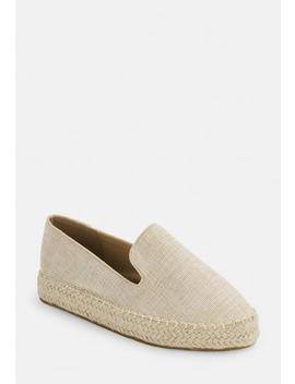Beige Closed Toe Flat Espadrilles by Missguided