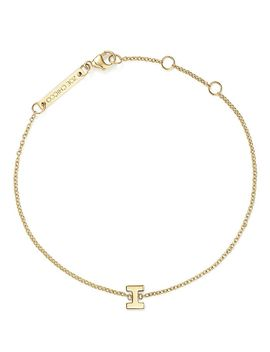 14 K Yellow Gold Initial Bracelet by Zoë Chicco