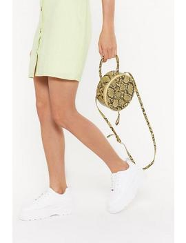 Pastel Snake Round Structured Cross Body by Nasty Gal