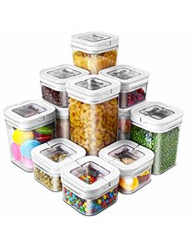 Airtight Food Storage Containers, Argus Le 11 Pieces Bpa Free Plastic Cereal Containers, For Kitchen Pantry Organization And Storage by Argus Le