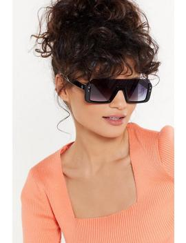 The Half Of It Square Sunglasses by Nasty Gal