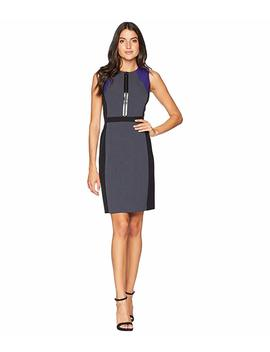 Sleeveless Front Zip Dress by Tahari By Asl