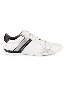 Space Low Cut Metallic Stripe Sneakers by Boss Hugo Boss