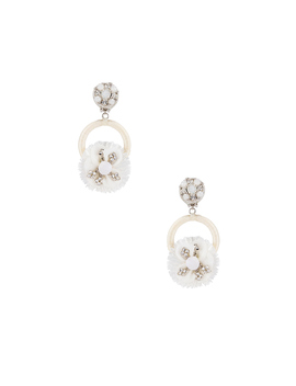Crystal Flower Earring by Ranjana Khan