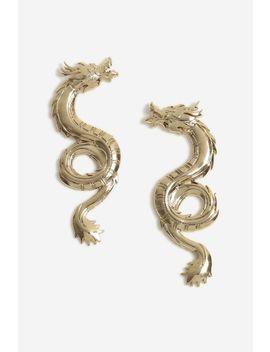 Dragon Stud Earrings by Topshop