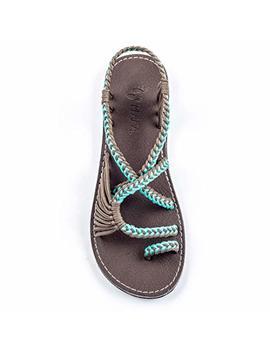 Plaka Flat Sandals For Women Palm Leaf by Plaka