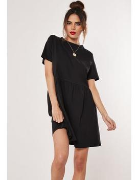 Black Jersey Short Sleeve Smock Dress by Missguided