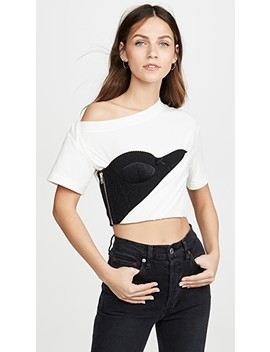 Draped T Shirt With Bustier by Alexander Wang