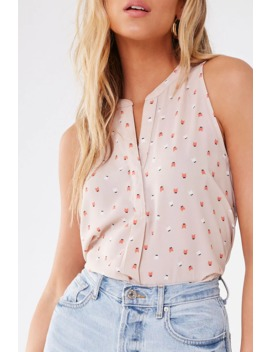 Sleeveless Cat Print Top by Forever 21