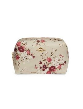 Floral Print Boxy Nylon Cosmetic Case by Coach