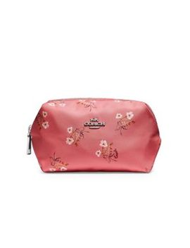 Small Floral Boxy Cosmetic Pouch by Coach