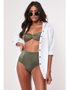 White Mock Tortoiseshell Button Shirt Beach Cover Up by Missguided