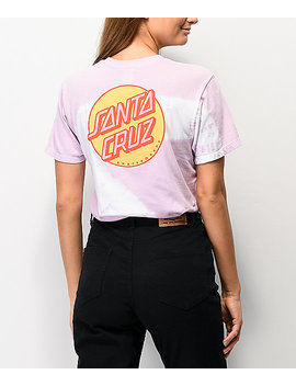 Santa Cruz Other Dot Lavender &Amp; White Tie Dye T Shirt by Santa Cruz Skate