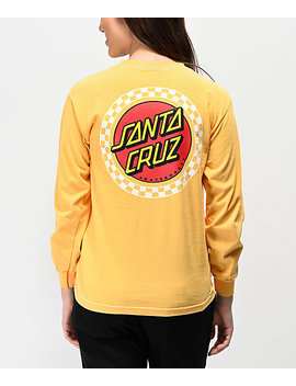 Santa Cruz Locked Stripe Yellow Long Sleeve T Shirt by Santa Cruz Skate