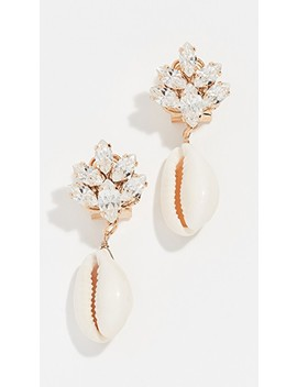 Omega Clasp Cluster Shell Earrings by Anton Heunis