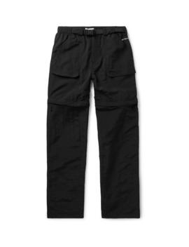 Black Convertible Shell Trousers by Pop Trading Company